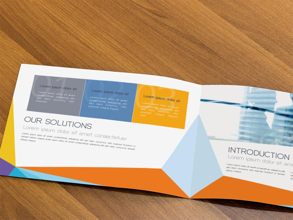 Broschüre gestalten lassen - Modernes Design für eine Broschüre
