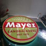 Leuchtkasten für Mayer Landbäckerei