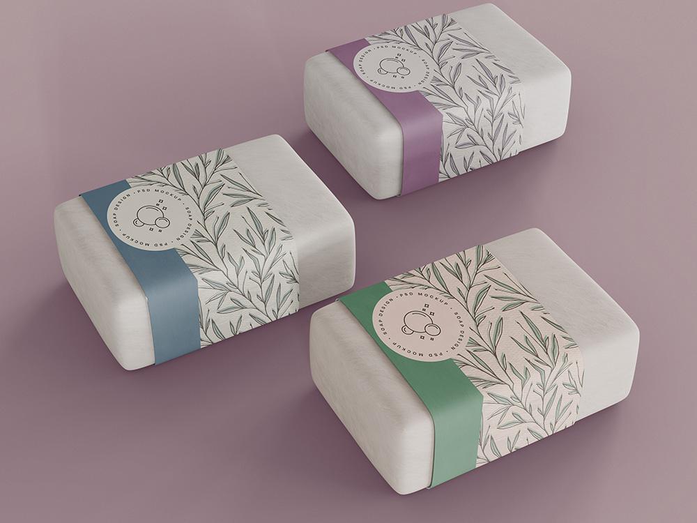 Verpackungsdesign für Seifen