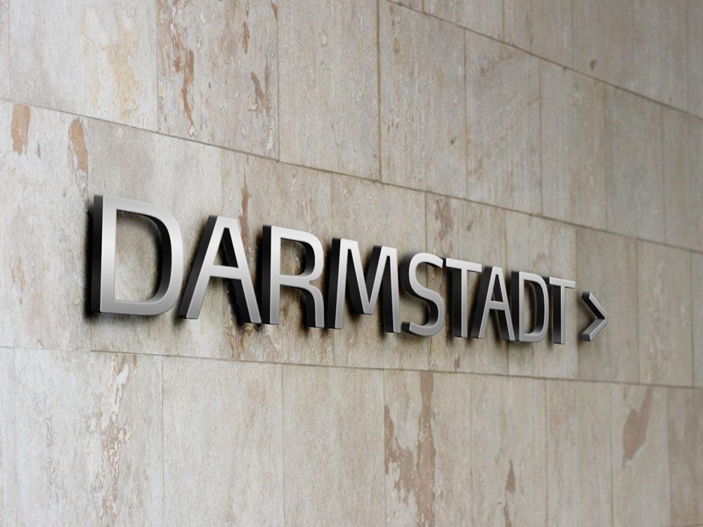 3d Buchstaben Darmstadt Wegweiser