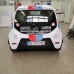 Fahrzeugbeschriftung Mainz e.Go Bosch Janssen Heck