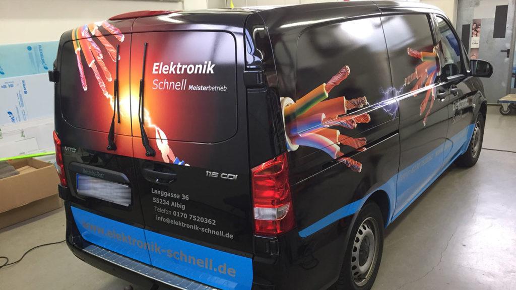 Fahrzeugfolierung Mainz und Wiesbaden - Firma Elektronik Schnell