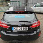 Fahrzeugfolierung an der Heckscheibe für die Firma Jobimpulse