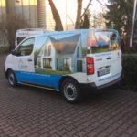 Autofolierung auf Kleintransporter für Massivhaus Rödner