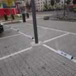 Parkplatzschilder für Mainz, Wiesbaden, Frankfurt, Darmstadt mit Gestaltung, Druck und Montage vor Ort