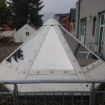 Sonnenschutzfolie für eine Dachkuppel aus Glas