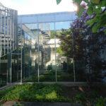 Glasfassaden mit Sonnenschutzfolie große Fenster