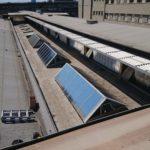 Sonnenschutzfolie in Frankfurt für Dachfenster einer Halle
