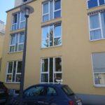 Sonnenschutzfolie für Fenster an einem Gebäude in Mainz