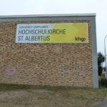Fassadenbanner für die Hochschulkirche St. Albertus
