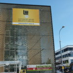 Fassadenbanner für die Firma Leonhard Weiss