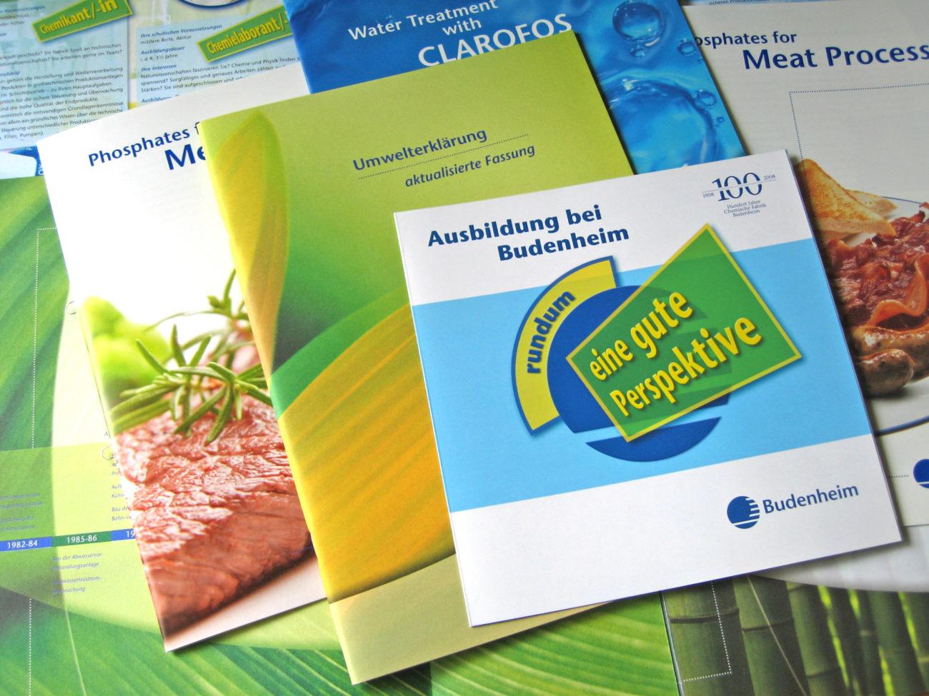 Printmedien: Verschiedene Broschürendesign