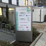 Werbepylon im HELIX in Mainz