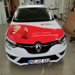 Fahrzeugbeschriftung Malteser PKW von vorne