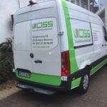 Fahrzeugbeschriftung CISS von hinten