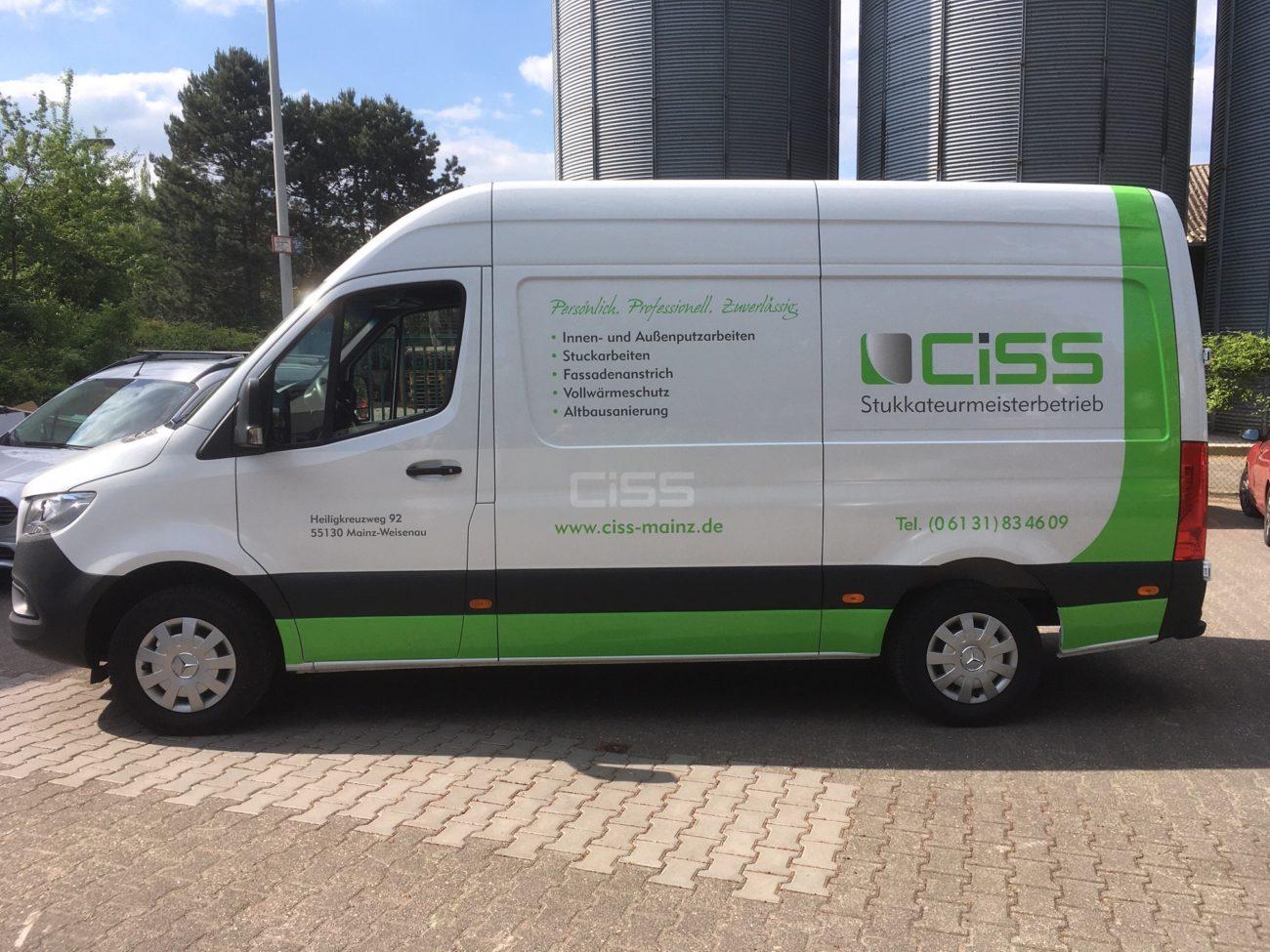Fahrzeugbeschriftung CISS von links