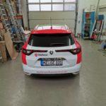 Fahrzeugbeschriftung PKW Malteser von hinten